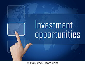 Investment opportunities concept with interface and world...