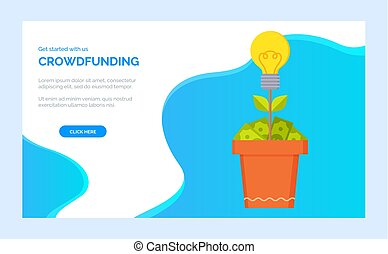 Investment or Donation Platform, Dollar Web Vector