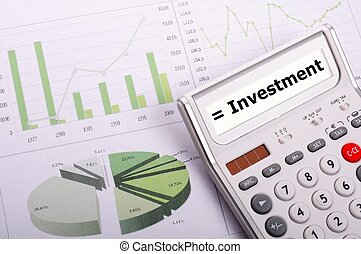investment or invest money concept showing financial success