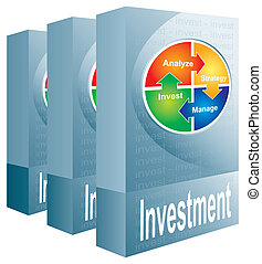 Investment package - abstract illustration with color chart
