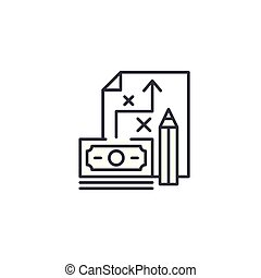 Investment plan linear icon concept. Investment plan line vector sign, symbol, illustration.