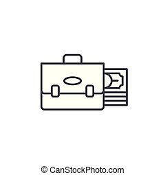 Investment portfolio linear icon concept. Investment portfolio line vector sign, symbol, illustration.