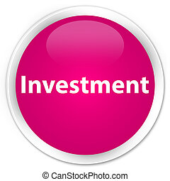 Investment premium pink round button