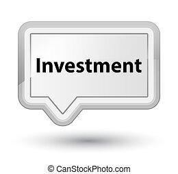 Investment prime white banner button