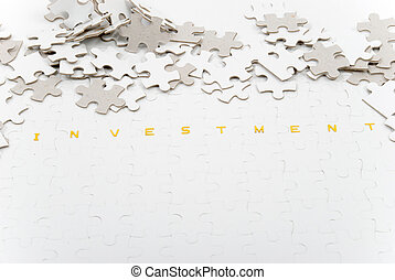 Investment Puzzle - Representation of the confusing world of...