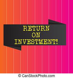 investment., regreso, empresa / negocio, foto, actuación, escritura, conceptual, efficiency., medida, showcasing, mano, evaluación, perforanalysisce