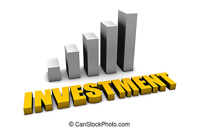 Investment Returns Growing in 3d With Bar Graph