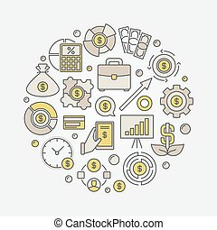 Investment round colorful illustration