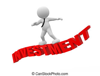 Concept of successful investment, 3d rendering clipart ...
