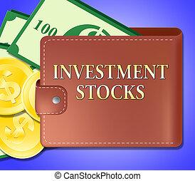 Investment Stocks Shows Market Shares 3d Illustration