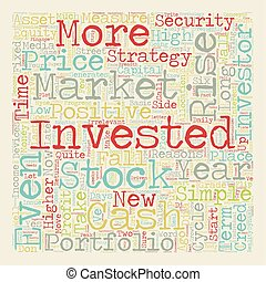 Investment Strategy The Investor s Creed text background wordcloud concept