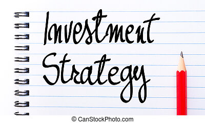 Investment Strategy written on notebook page