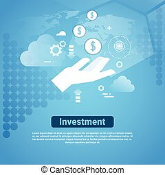 Investment Template Web Banner With Copy Space Money Sponsor Concept