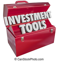 Investment Tools 3d Words Toolbox Finance Adviser Resources