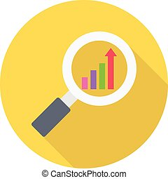 investment vector colour flat icon