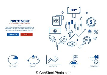Investment concept flat design for landing page website or magazine illustration print