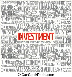 INVESTMENT word cloud collage