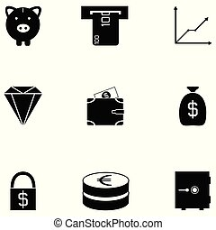 Investments icon set
