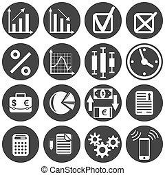Investor icon set