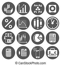 Investor icons set