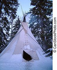 invierno, campamento