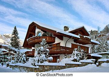 invierno, casa