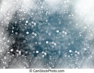 invierno, effect., bokeh, plano de fondo, colores, difuso