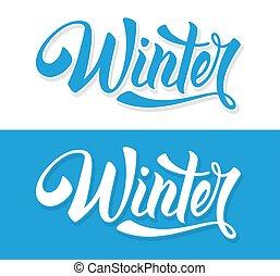 invierno, es, venida