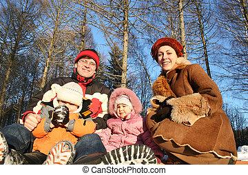 invierno, familia