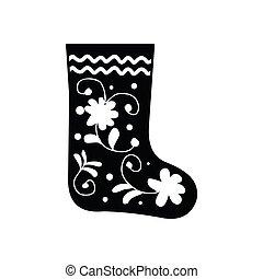 invierno, fieltro, botas, tradicional, icono ruso