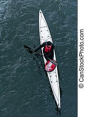 invierno, kayaking, en, el, río, en, ucrania, 14