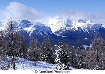 invierno, montañas