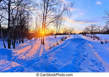 invierno, ocaso