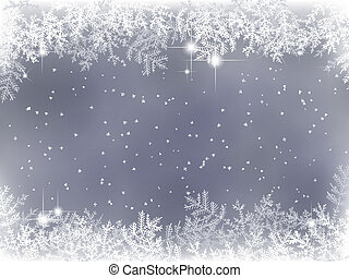 invierno, plano de fondo, con, decoración de navidad