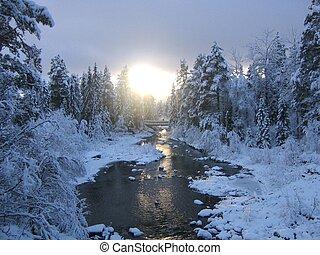 invierno, riachuelo