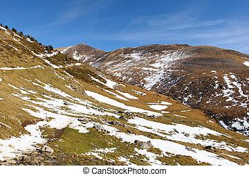 invierno,  vall,  nuria,  De, españa, recurso