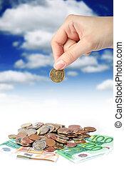invierta, concept., dinero