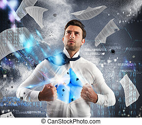 Invincible business superhero