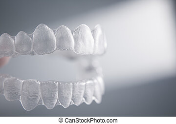 Invisible dental teeth brackets tooth aligners plastic ...