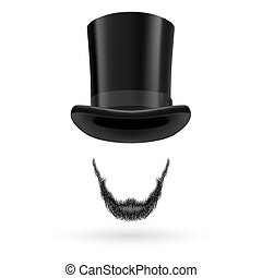 Invisible man in top hat - Invisible man with Lincoln beard...