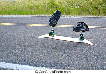Invisible Skateboarder