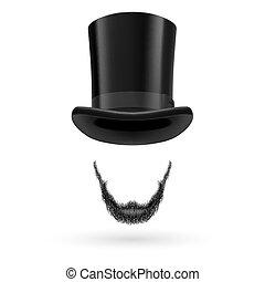 invisible, sombrero superior, hombre