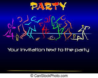 invitación, a, un, fiesta