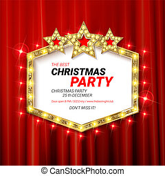 invitación, alegre, fiesta, navidad, 2019