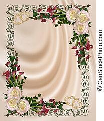 invitación boda, elegante, floral