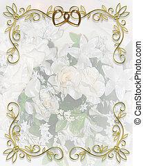 invitación boda, floral