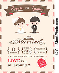 invitación boda, tarjeta, plantilla