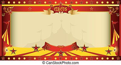 invitación, cima grande, circo