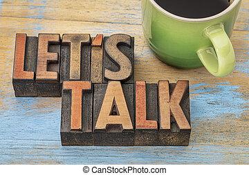 invitación, nosotros, dejar, charla, café