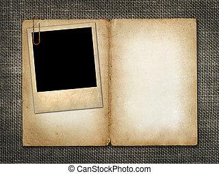 invitación, tarjeta, foto, viejo, o, felicitación
